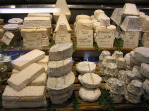 french cheeses on display